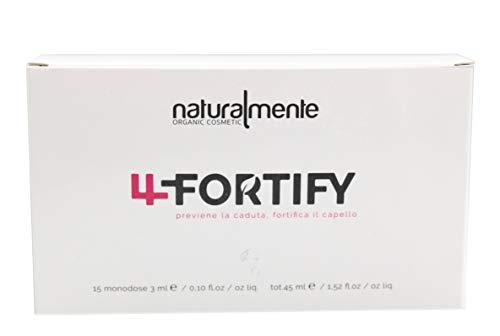 Naturalmente Fortify Trattamento, Prevenzione Anticaduta, Fortifica Capello, Fiale 15 x 3 ml