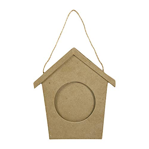 Decopatch CD007O (lijst vogelhuisje van papier-maché te versieren, 10 x 130 x 150 mm)