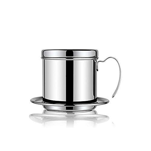 TYI Koffiezetapparaat Pot Rvs Cup Vietnamese Koffie Druppelfilter Filtervrij Papier Koffiezetapparaat Draagbare Beste Gift Keuze voor Baristas en Koffie Liefhebbers