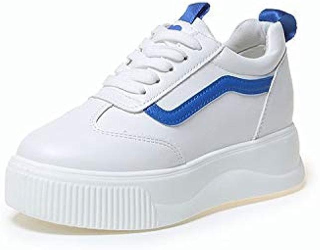 HOESCZS Petit Blanc Chaussures Femmes épaisse Printemps Nouvelle Versatile Mode Plateforme Chaussures Augmenté Femmes Chaussures Un Seul Chaussures