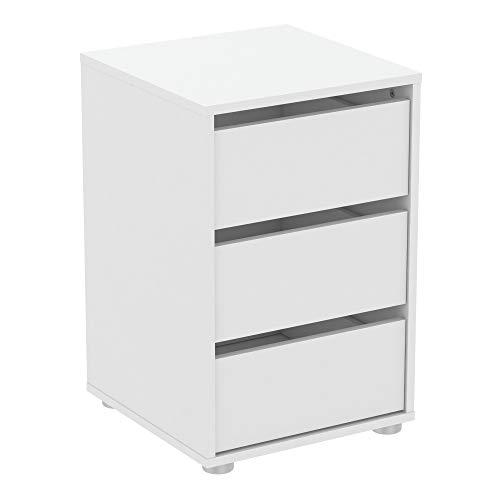 Demeyere - Comoda de aglomerado, Blanco Perla, W.40 cm 39,6x39,6x58,1 cm