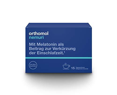Orthomol nemuri 15er Granulat als Heißgetränk - Vitamine & Mikronährstoffe als Nahrungsergänzung für das Nervensystem