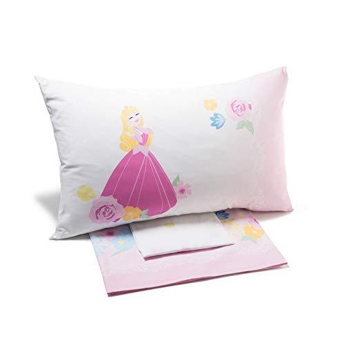 Caleffi Princess romantic Completo Lenzuola, Cotone , Unica, Piazza e Mezza, 77678 , Disney