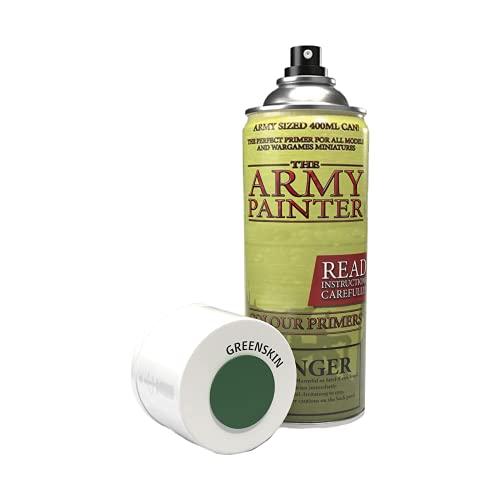 The Army Painter | Colour Primer | Greenskin | 400ml | Acryl-Spray | Grundierung | für Modellmalerei