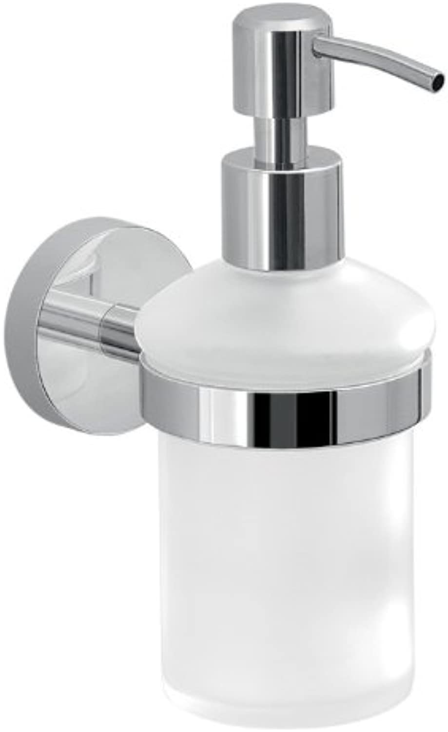 Gedy 2381-13 Frosted Glass Soap with Wall Mount, Chrome
