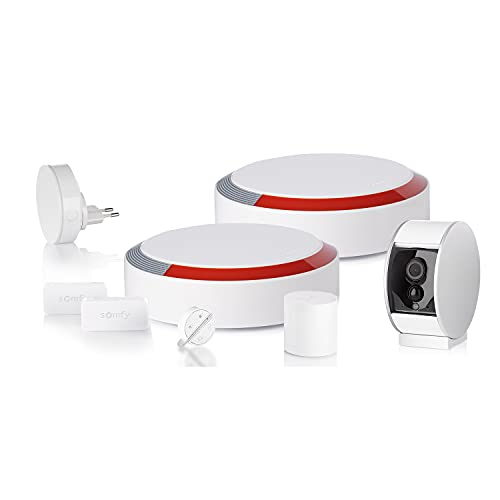 Somfy 1870288 1870288-Allarme Domestico Senza Fili con Telecamera di sorveglianza Protect, Compatibile con Amazon Alexa, l'assistente Google e Tahoma