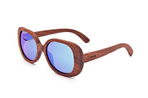 Wood Kiwi: Gafas de sol de madera - Polarizadas - UV400 - Unisex - Billion Butterfly