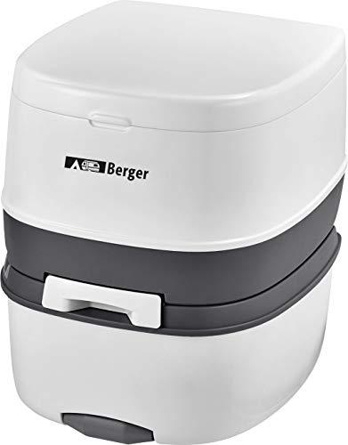 BERGER Campingtoilette Mobil WC Supreme Caravan Camping Wohnmobil Toilette WC Chemietoilette weiß