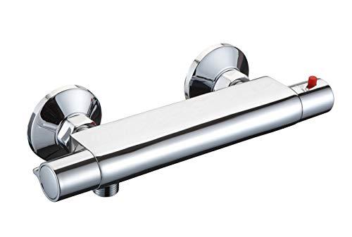 SCHÜTTE 52445 VICO Duscharmatur mit Sicherheitssperre, Thermostat Brausemischer/Mischbatterie, Chrom
