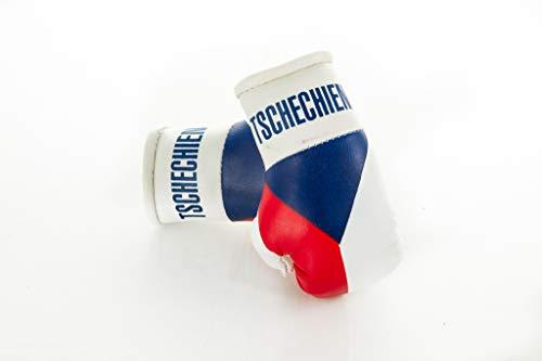 Sportfanshop24 Mini Boxhandschuhe Tschechien/Tschechische Republik, 1 Paar (2 Stück) Miniboxhandschuhe z. B. für Auto-Innenspiegel