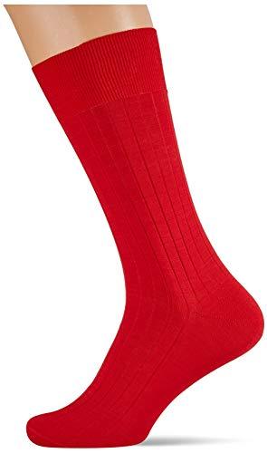 Hackett Mens SOLID Socks, 201LIGHT RED, ML