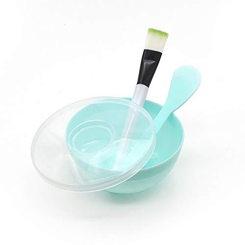 WYXMMW Quatre ensembles de bol de masque (brosse bol + + + Gai bar) brosse for cuvette de film à quatre réglage cosmétique mis masque plastique coréen (Size : Green)