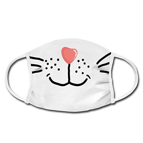 Spreadshirt Katze Schnurren Kater Stubentiger Mund-Nasen-Bedeckung, Weiß