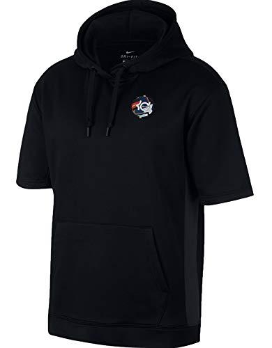 Nike KD suéter de Baloncesto de Manga Corta con Capucha para Hombre - Negro - X-Large
