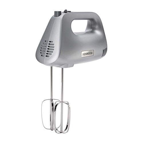 Kenwood Hand Mixer, Electric Whisk, 5 Speeds, Stainless Steel Kneaders and Beaters for Durability and Strength, 450 W, HMP30.A0SI, Silver
