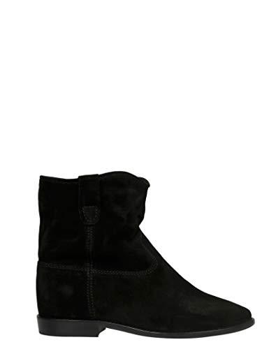 Luxury Fashion   Isabel Marant Dames BO010300M103S01BK Zwart Suôde Enkellaarzen   Seizoen Permanent