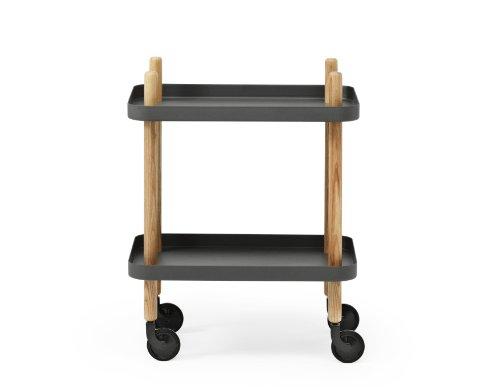 Normann Copenhagen block, table serving cart, mix of materials, grey, Standard