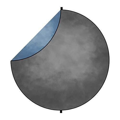 Kate Telón de Fondo Plegable 1,5x1,5m Gris Oscuro Textura Abstracta/Smog Azul Fondo...