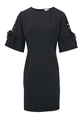 Ashley Brooke - Vestido de punto para mujer, con tachuelas, color negro Negro