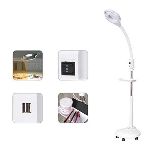Adobe abs Lampe De Beauté Led46W USB Chaud Et Froid Rechargeable avec Plateau De Rangement Lumière Loupe Tatouage Lumière Lampe De Beauté Nail Art Sourcils Ombre Lampadaire