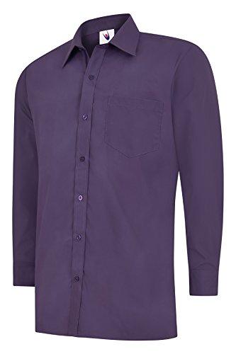 Uneek clothing - Chemise Business - Homme Rouge Violet Petit