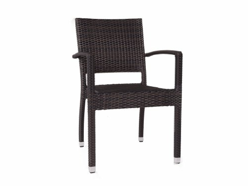 Ascot Stacking Rattan Armchair - Outdoor Chairs - Rattan Garden Dining Chair