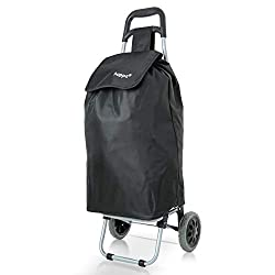 CONVENIENT – Our super lightweight Hoppa Shopping Trolley is perfect for both the young and old and offers a safer, more convenient way to shop and travel. It removes the physical strain of carrying your shopping, featuring an easy-to-grab handle and...