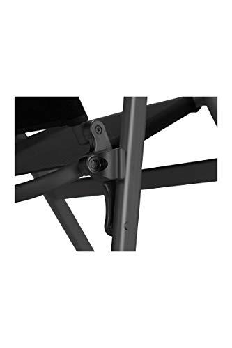 Westfield Faltstuhl Klappstuhl Advancer, anthrazit, faltbar, Aluminium, belastbar bis 140 kg, Campingstuhl
