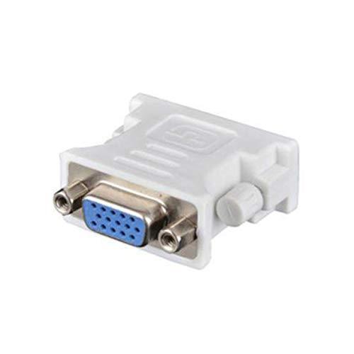 Timetided Convertidor Adaptador de Enchufe DVI D Macho a VGA Hembra VGA a DVI / 24 + 1 Pin Macho a VGA convertidor Adaptador Hembra