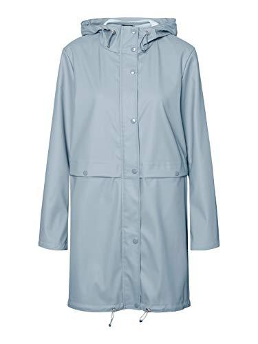 VERO MODA Damen VMEVERYDAY 3/4 Coated Jacket GA Regenjacke, Slate, S