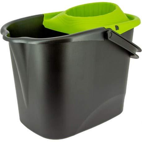 Sello para el hogar – Cubo y escoba escurridor – Producto de cocina para el hogar – Cubo de 14 l rectangular con escurridor