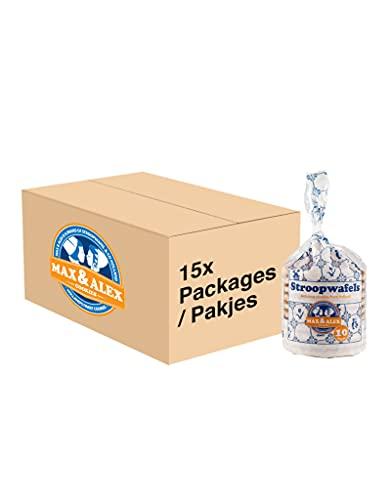 Max & Alex Stroopwafels – Doos 150 stuks – 100% Roomboter Stroopwafels Verpakt in Delfts blauwe trendy verpakking – Set…