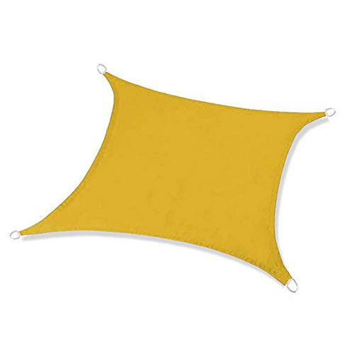 WJQQ Toldo Vela de Sombra Rectángulo 4 x 5 m, Toldo Rectangular con Kit Accesorios, 100% Poliéster, Resistente y Transpirable para Patio Exteriores JardínBeige