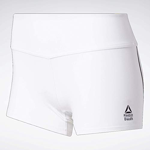 Reebok Crossfit Chase Bootie Short, White, X-Small