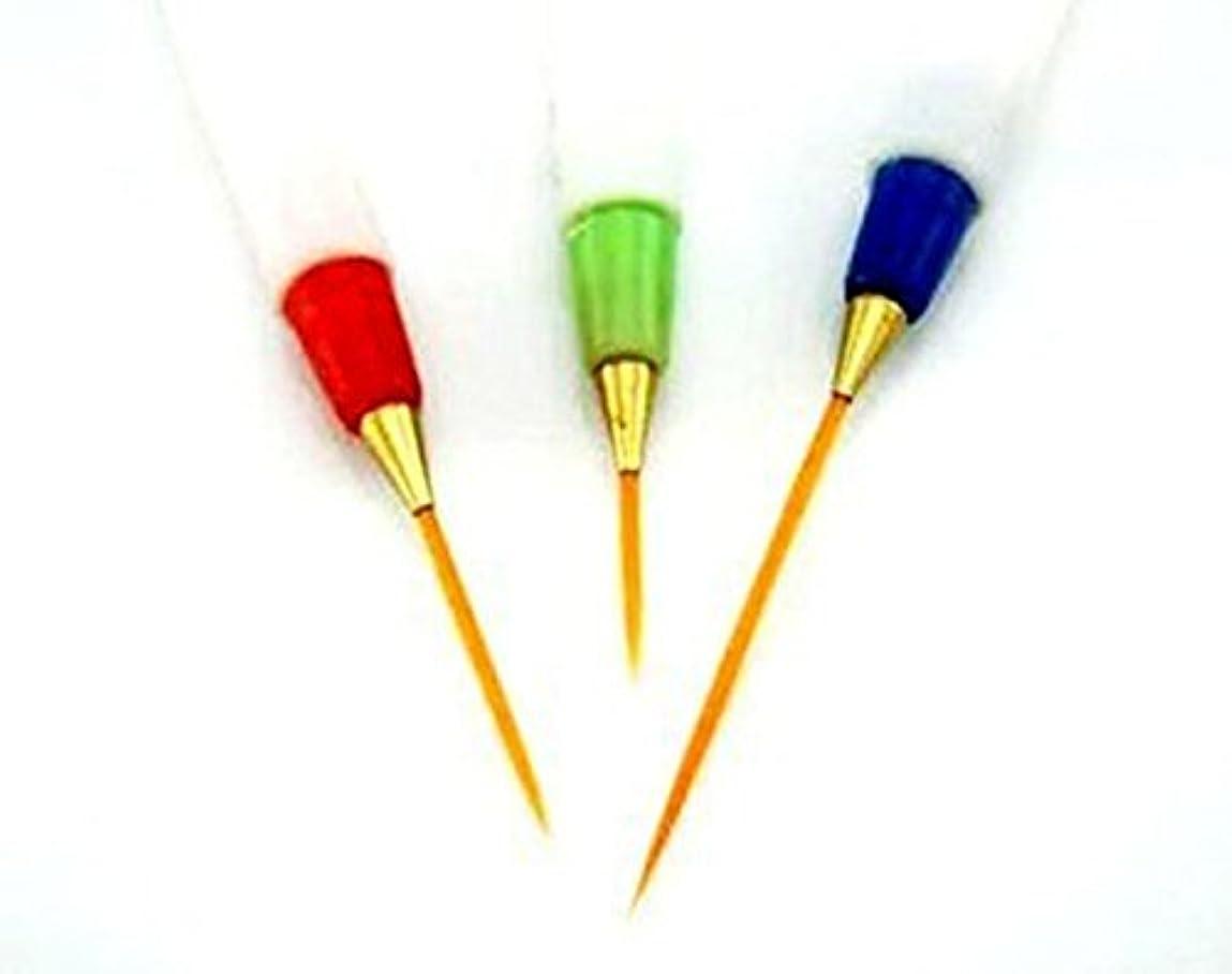 火辛な以降SODIAL(R) 3x白い絵画ペンネイルアートデザインペンブラシの描画ストライプライナーセット