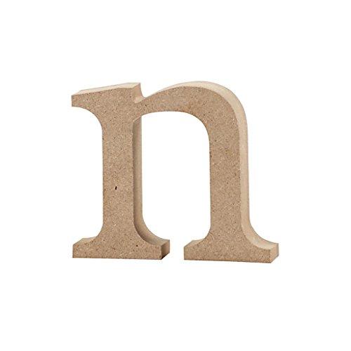 Lettre, h: 8 cm, MDF, n, 1 pièce
