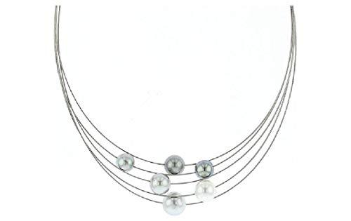 Luna-Pearls - Halsschmuck - Collier ? Edelstahl Tahiti-Zuchtperle 8-12 mm 2040563