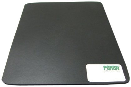 Poron Polyurethane Open-Cell Foam Sheet, Medium Firmness, Adhesive Backing, Black, 0.125