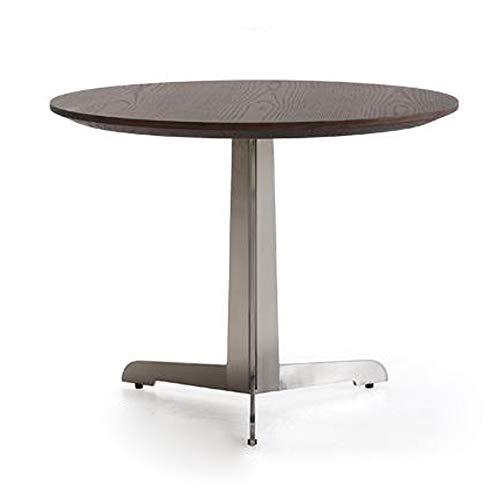 Mesas para lámparas Mesa Lateral Pequeña Tabla Mesa de té, las tablas de madera maciza de metal mesa lateral pequeña redondear el extremo de acero inoxidable Mesa for sofá for el dormitorio de la sala