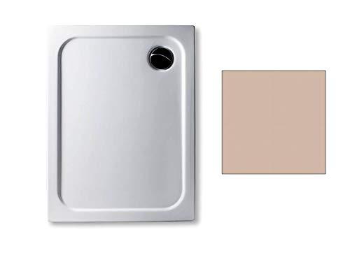 Acryl Duschwanne 90 x 70 cm Farbe: BAHAMABEIGE superflach 2,5 cm rechteckig Dusche/Duschtasse/Brausewanne