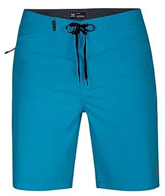"Hurley Men's Phantom P30 One & Only Stretch 20"" Boardshort Swim Short, Blue Fury, 38"