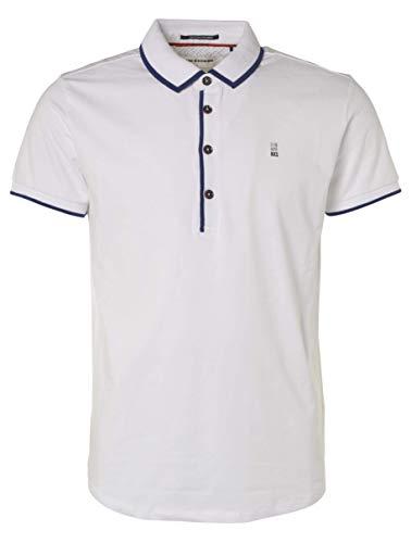 NO EXESS Herren Stretch Polo Tshirt Weiss No Excess, Farben:White, Grössen:L