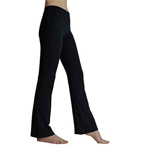 HeTaiDa Damen Jogginghose, schnell trocknende Sporthose mit versteckten Taschen, mittlhohe Taille stilvolle freizeitliche Yogahose für Fitness, Outdoor-Sport und als Alltagskleidung (Black, L)