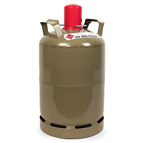 CAGO Camping Gas-Flasche (Leer) - Befüllbarer 11kg Gas-Behälter mit Gasregler-Schlüssel mit Magnet für Gas-Grill, Gas-Kocher, Wohnwagen, Heizung etc.