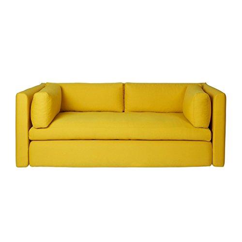 HAY Hackney 2-Sitzer Sofa, gelb Steelcut 445 200x96x75cm