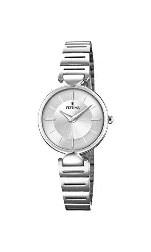 Festina Reloj Análogo clásico para Mujer de Cuarzo con Correa en Acero Inoxidable F20319/1