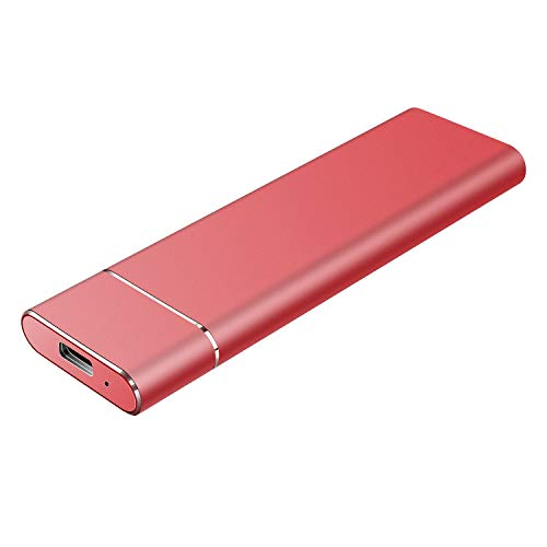 Disco Duro Externo 1tb USB 3.1 Disco Duro Externo para Mac, PC,MacBook, Chromebook, Xbox (1tb, Rojo)