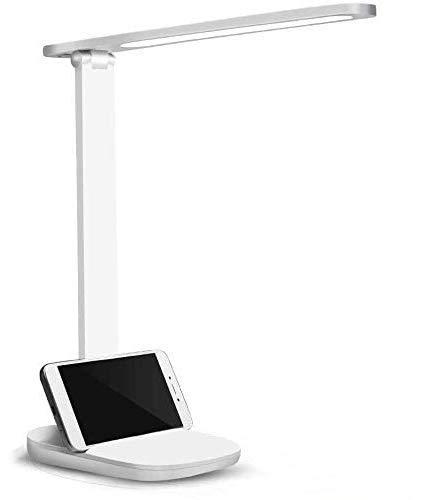 Lámpara Escritorio LED: Flexo LED Escritorio con USB - Lámpara de Mesa Regulable Protección Ocular, 3 Niveles de Brillo, Control Táctil, Función de Memoril, Luz Flexo de Escritorio para ,Estudiar