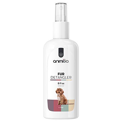 Animigo Fell Entwirrer Spray für Hunde - Fell Entfilzung, Kämmhilfe für den Hund, Entfilzungsspray Hunde, Hundefell Mittel für Langhaar und Kurzhaar, Fellpflege, Entfilzer - 236ml Coat Pflege Spray