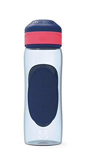 Quokka Splash - Indigo 730 ML   Botella de Agua Deportiva Reutilizable de Tritan sin BPA - Fácil Apertura con un Solo botón a Prueba de Fugas